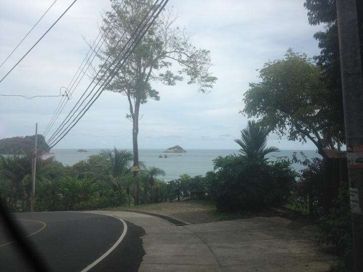 view halfway to the beach